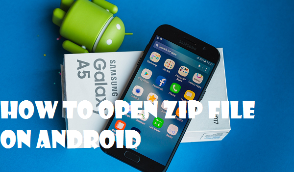 open zip file on android