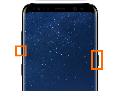 Samsung Galaxy S8 Volume Down and Power button