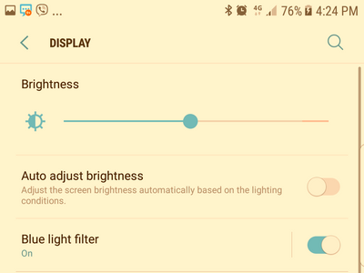 Samsung Settings Display Blue Light Filter Enabled