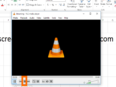 Stop Recording using VLC Media Player