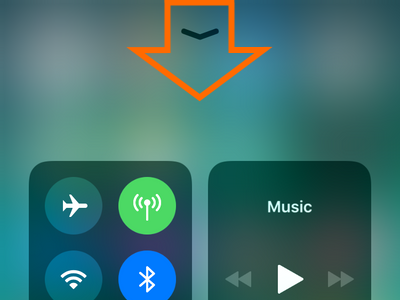 Swipe Down to Close Control Center