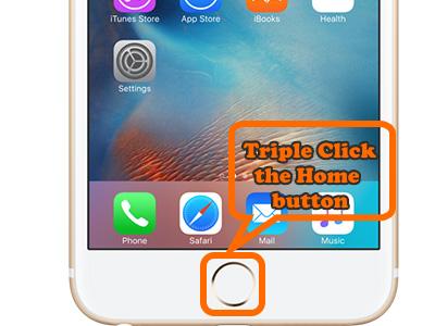 Triple Click Home button