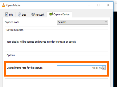 VCL Capture Desired Frame Rate
