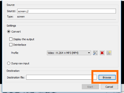 VCL Capture Desired Location