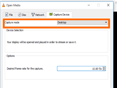 VLC Media File Menu Convert Save Capture Device Windows