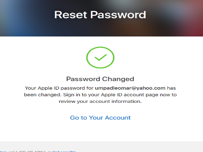 iCloud Password Changed