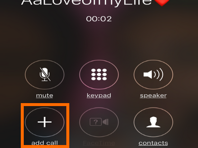 iPhone Add Call button