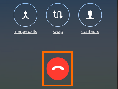 iPhone Conference Call End Button