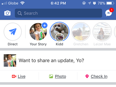 iPhone Facebook home