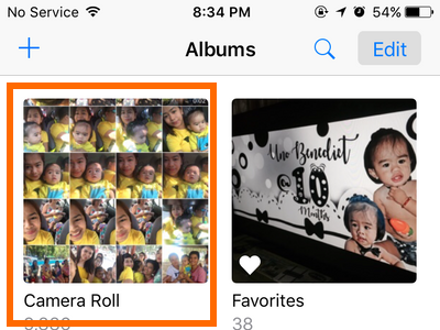 iPhone Photo album Camera Roll