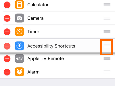 iPhone Settings Control Center Handle Icon Rearrange Controls