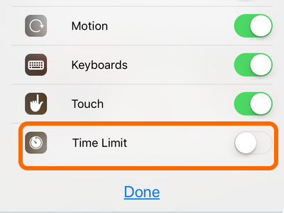 iPhone Time Limit