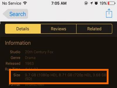 iTunes Media File Size