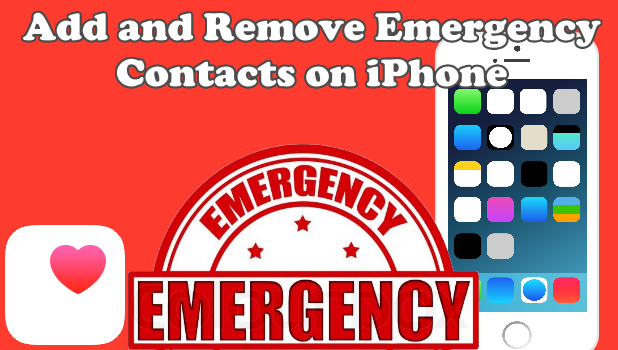 how to add emergency contacts on iphone