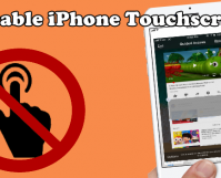 Disable Touch Screen on iPhone