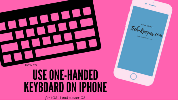 Enable One-Handed Keyboard on iPhone