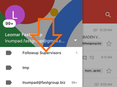 Gmail App Menu Scroll Down