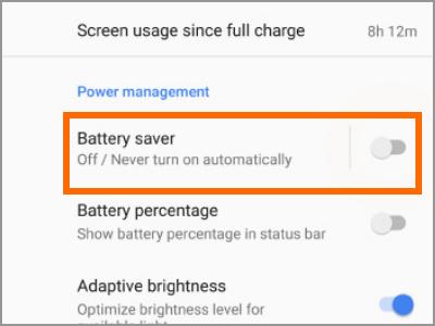 Google Pixel Settings Battery Saver Switch