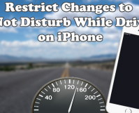 Restrict Changes to Do Not Disutrb While Driving on iPhone