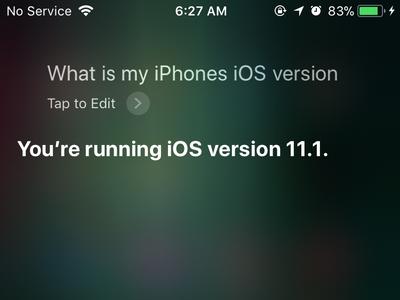 Siri Answers Question