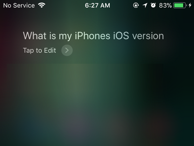 Siri Ask a Question