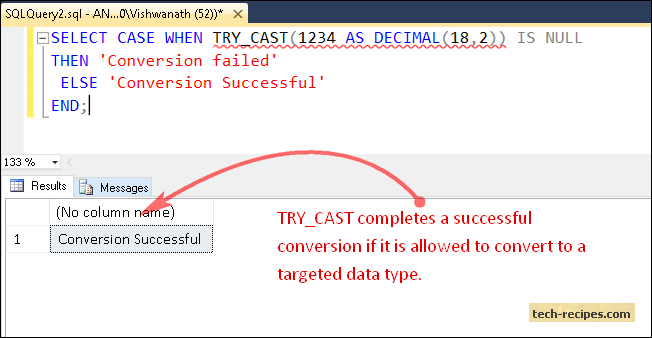TRY_CAST_Function_SQL_Server_Successful