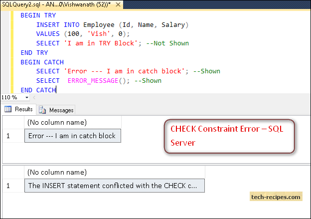 TRY   CATCH Error & Exception Handling in SQL Server