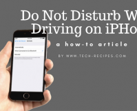 Use Do Not Disturb While Driving on iPhone iOS 11