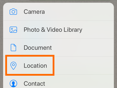 Whatsapp Chat Message Attach button Location