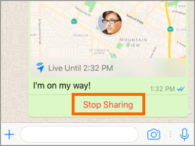 Whatsapp Live Location Stop Sharing