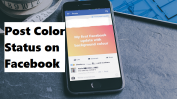 post color status on facebook
