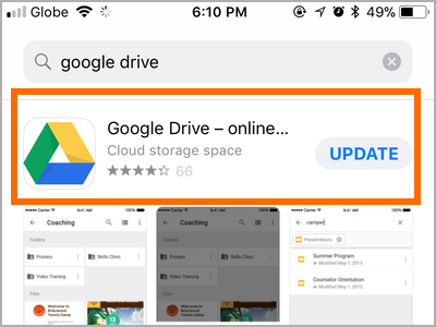 iPhone Apps Google Drive