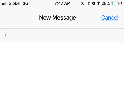 iPhone Compose New Message