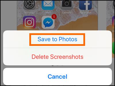 iPhone Edit Screenshot Save Photos