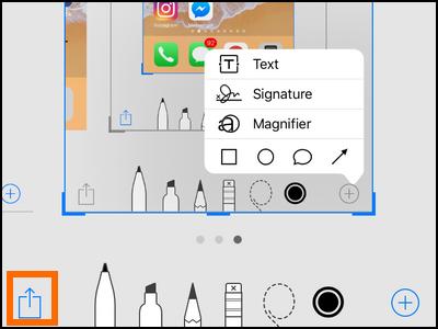 iPhone Edit Screenshot Share Edited Screenshot