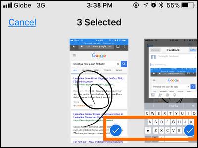 iPhone Edit Screenshot Share Select Items
