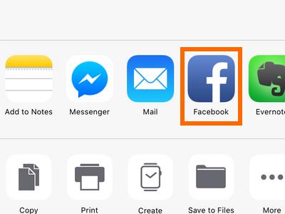 iPhone Edit Screenshot Share to Facebook