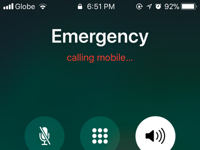 iPhone Emergency SOS Call