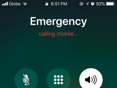 iPhone Emergency SOS Call