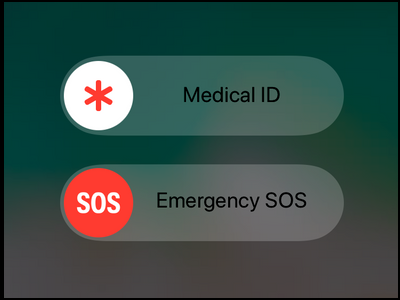 iPhone Emergency SOS Screen