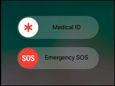 iPhone Emergency SOS Screen