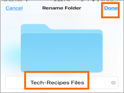 iPhone Files App Touch and Change Folder Name