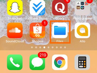iPhone Files App
