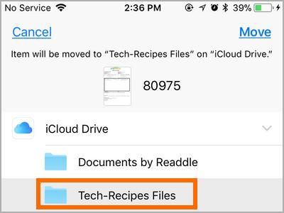 iPhone Files Select button Choose File Selecct Folder
