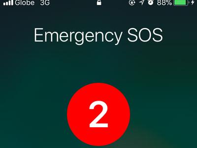 iPhone Settings Emergency SOS Auto Call Countdown