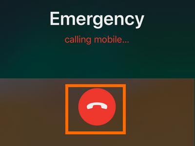 iPhone Settings Emergency SOS End Call