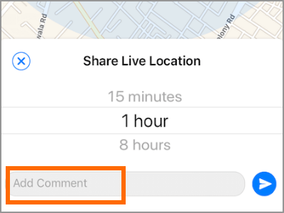 iPhone Whatsapp Share Live Location Add Comment