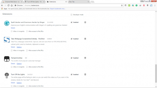delete extensions on Google chrome