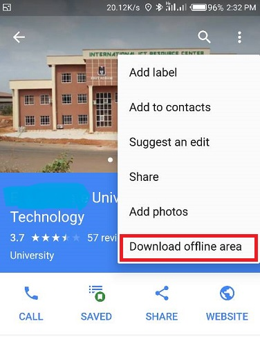 how to us google maps offline on android