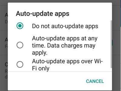 Android Playstore Menu Upward Swipe Settings Auto update Apps Options